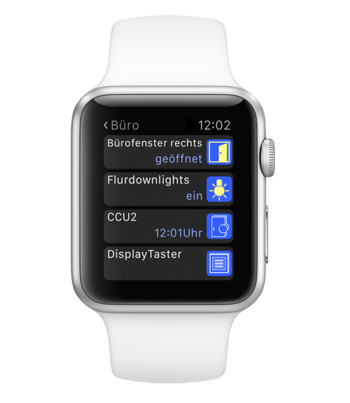 Apple Watch mit eQ3-App