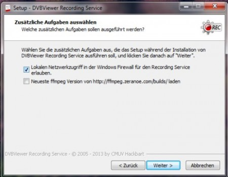 DVBViewer Recording Service Firewall (c)kabellabor.de