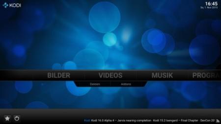 Kodi Startscreen (c) kabellabor.de