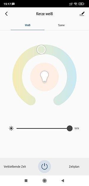 LIDL Zigbee Smarthome Leuchtmittel Einstellungen