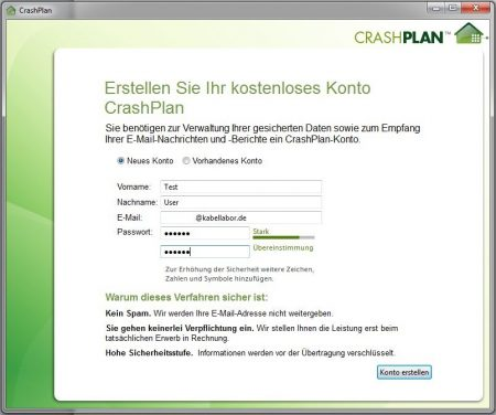 Screenshot Installer vergrößert